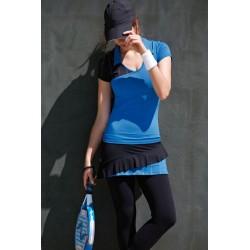 Naffta Padel - Conjunto Camiseta Manga Corta + Falda Pantalón - Azul Francia / Negro