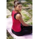 Naffta Active - Conjunto Camiseta Tirantes + Pantalón Ajustado - Rojo - Negro / Blanco
