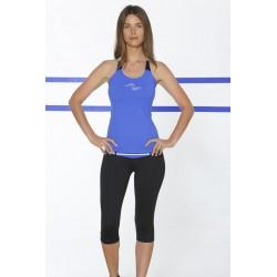 Naffta Active - Conjunto Camiseta Tirantes + Pirata - Azul Francia / Negro