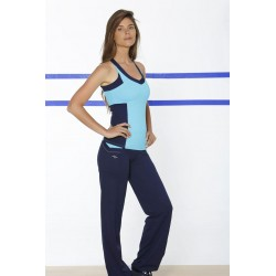 Naffta Active - Conjunto Camiseta Tirantes + Pantalón Flojo -Turquesa / Marino