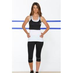 Naffta Pilates Yoga - Conjunto Camiseta Tirantes + Pirata - Blanco / Negro