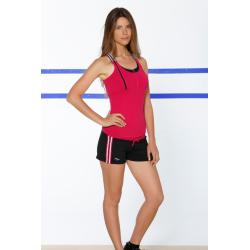 Naffta Active - Conjunto Camiseta Tirantes + Short - Borgoña / Negro