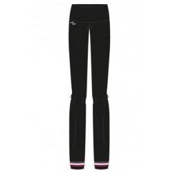 Naffta Active - Pantalón ajustado negro con 3 tiras horizontales de color en los bajos