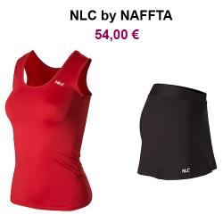 CONJUNTO NLC by NAFFTA: Camiseta Roja o Negra + Pantalón Pirata Negro