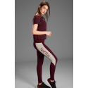 Naffta Active - Pantalon Pitillo Berenjena / Gris Claro